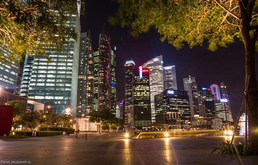 ночной сингапур фото города