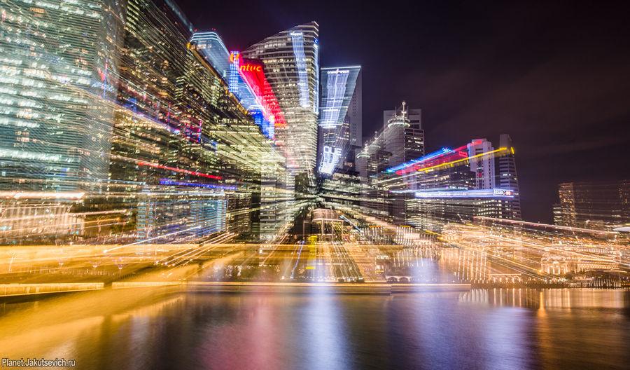 Необычный ночной Сингапур