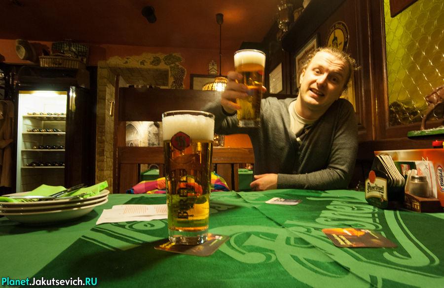 Чешское пиво в Праге
