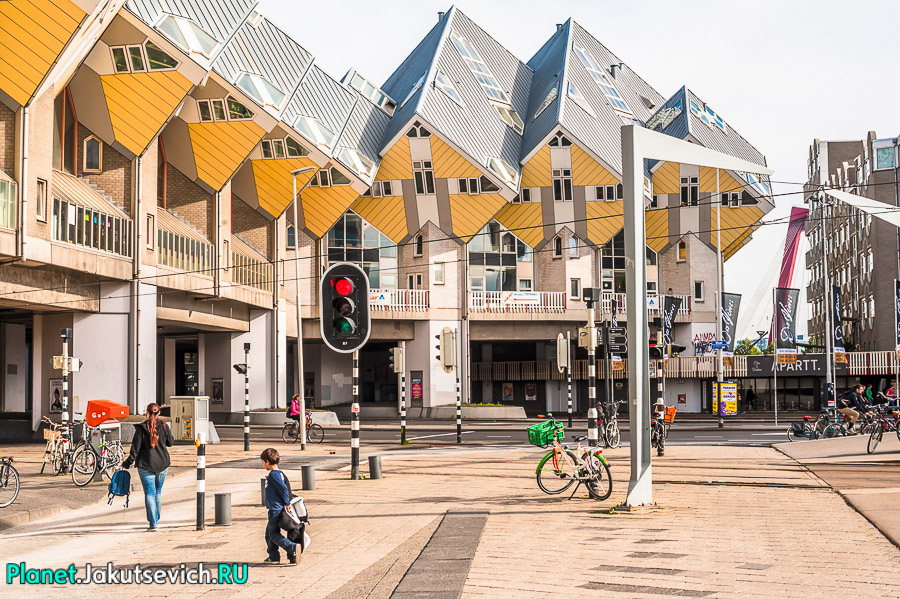Кубические дома в Роттердаме фото Артура Якуцевича