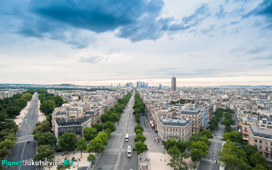 современный район Парижа Ла Дефанс