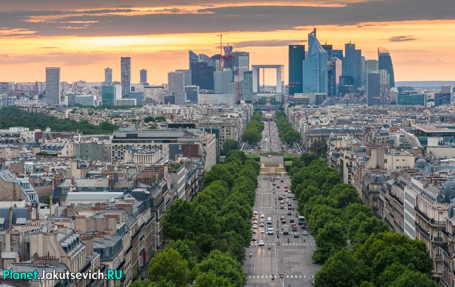 проспект Шарля де Голя в Париже